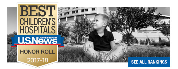 Nationwide Children's Named to U.S. News Honor Roll. See all rankings.